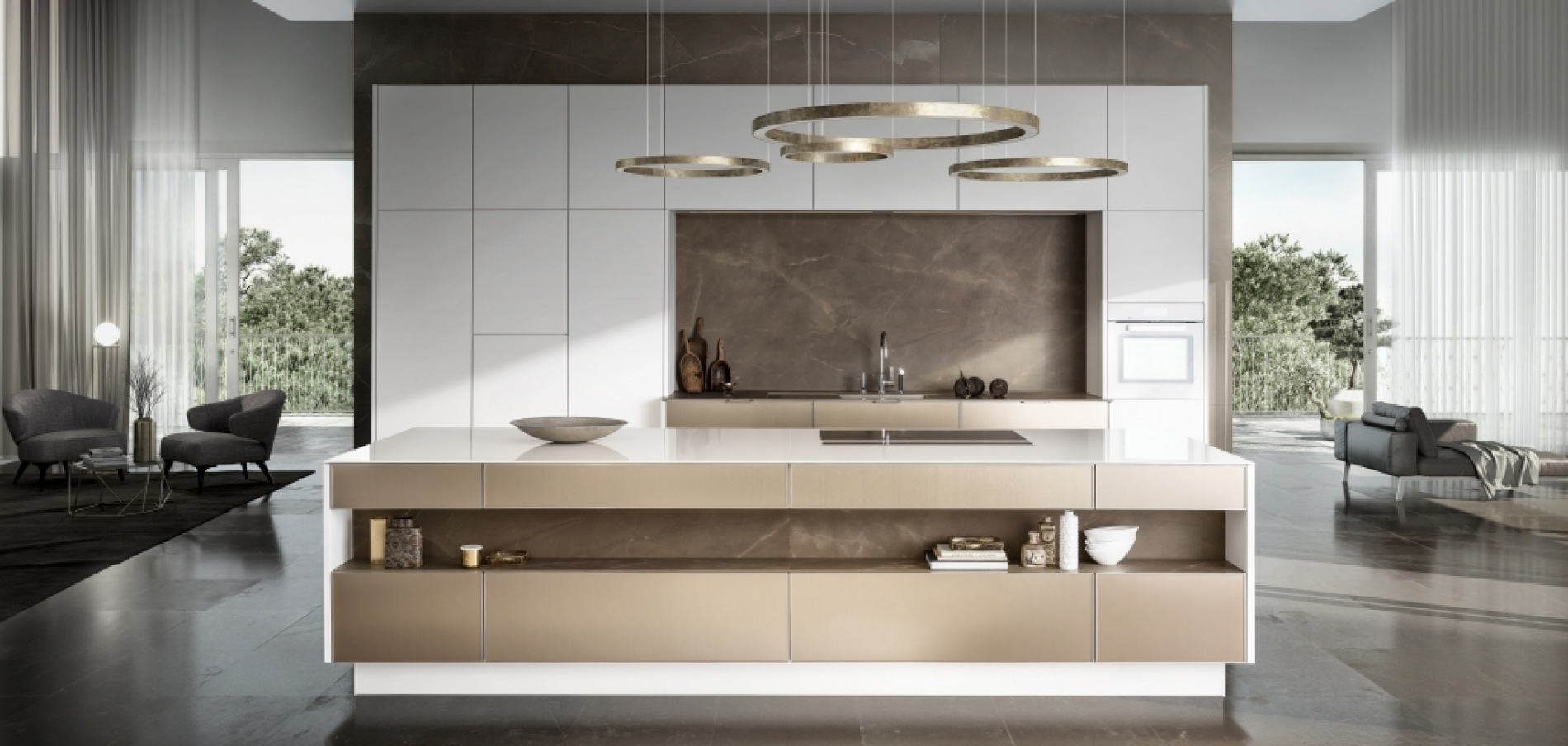 SieMatic white and bronze